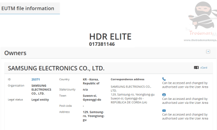"Samsung applies for ""HDR Elite"" as an EU Trademark for Tvs, Monitors & Displays #Samsung #HDRElite #Trademark"