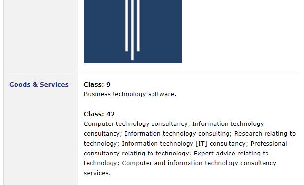 Trademark Ireland Codec DSS trademark application for three bar logo filed with Irish Patents Office Trademark