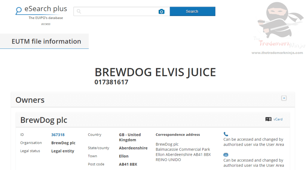 Were all shook up Brewdog applies for Elvis Juice as the name for beer Brewdog ElvisJuice Trademark