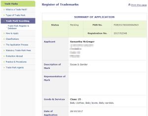 Trademark Ireland Application for trademark for 'Goose & Gander' in IPO #GooseAndGander #Trademark