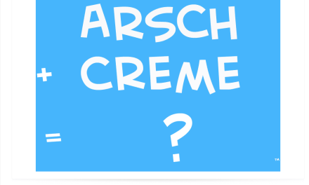 EUTM EU Trademark Application for Arsch Creme ArschCreme ArseCream
