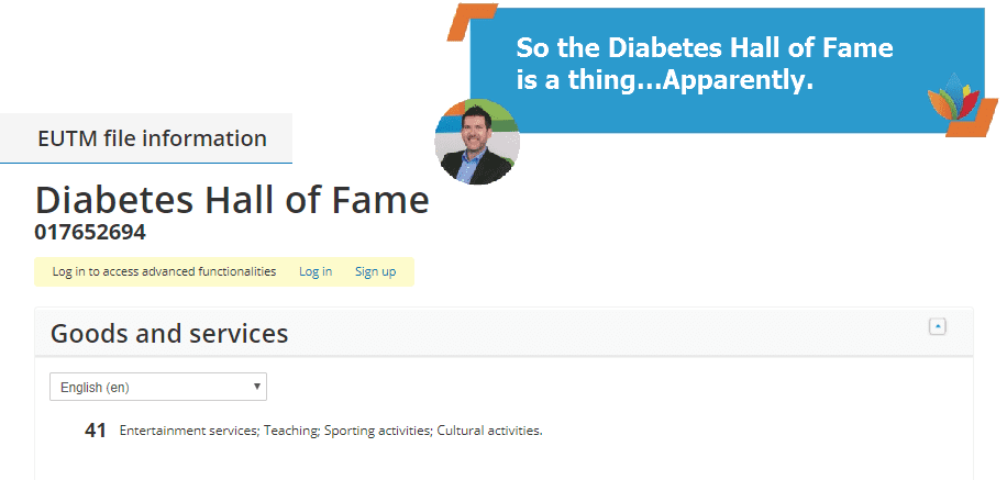 So the Diabetes Hall of Fame is a thing
