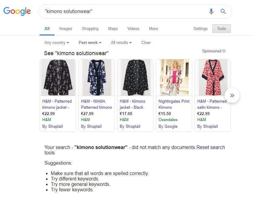 Kimono Solutionwear No Results Last Week