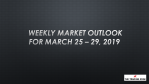 Weekly Market Outlook For March 25 - 29, 2019