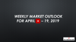 Weekly Market Outlook For April 15 - 19, 2019