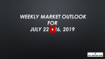Weekly Market Outlook For July 22 - 26, 2019