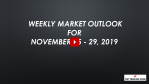 Weekly Market Outlook For November 25 - 29, 2019 - Happy Turkey Day!