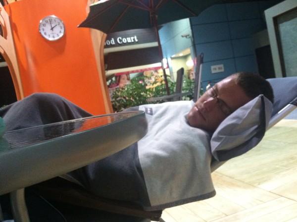 sleeping in taipei taiwan airport