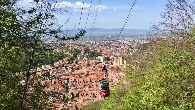 views of Brasov from Tampa mountain
