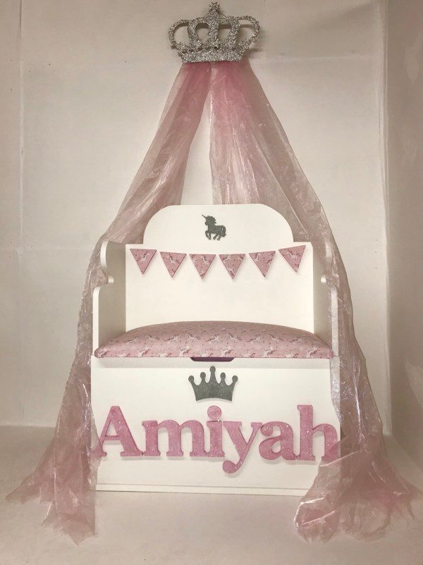 princess bench seat toy box