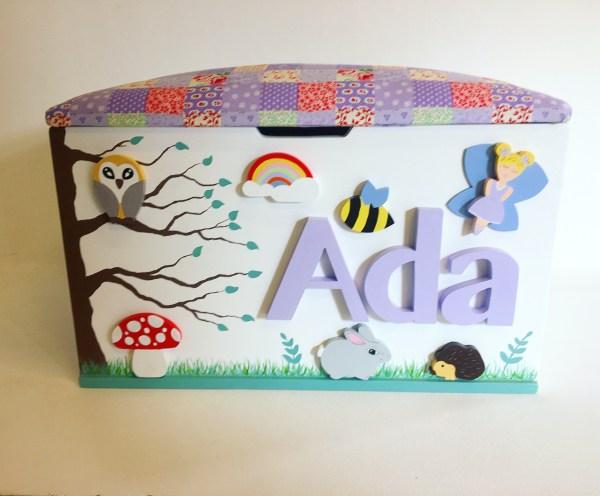 woodland theme toy box