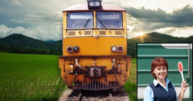Eastern European train stops in the middle of nowhere for no reason