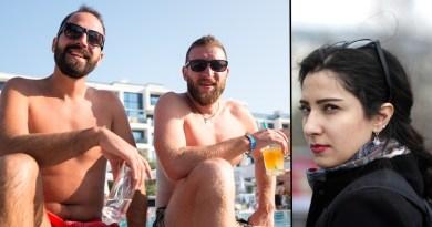 British tourists in Turkey drinking
