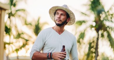 Vegan, gluten-free, lactose-intolerant backpacker drinks beer