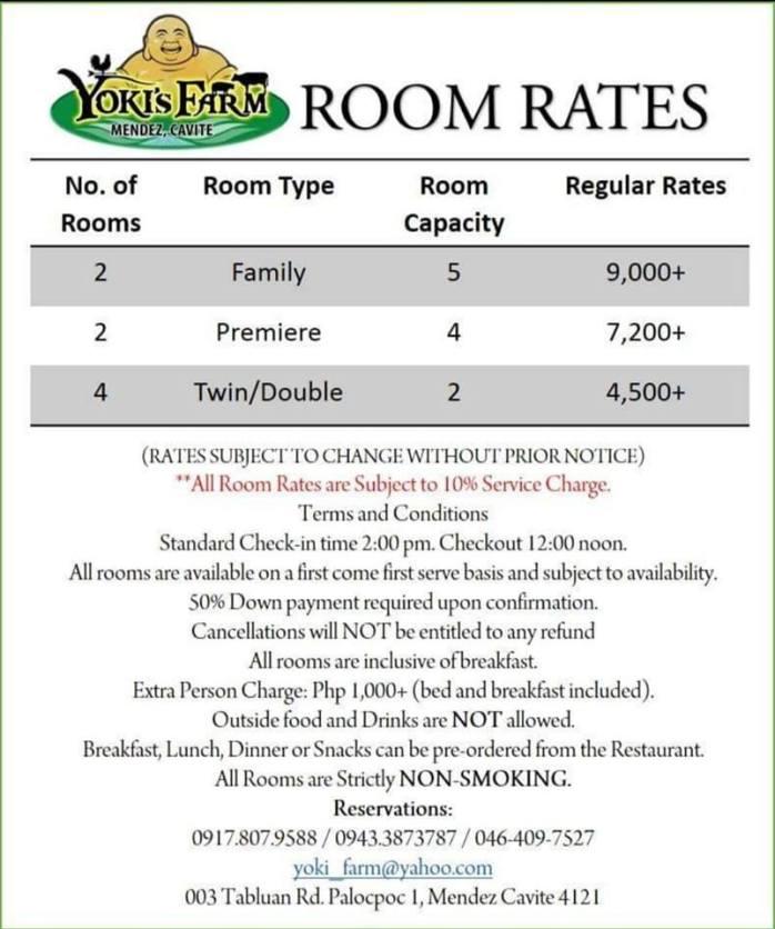 room rates