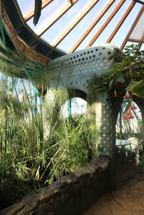 This gazebo-like structure sat in the largest part of the greenhouse and was the perfect place for meals.