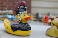 This Roman soldier duck doesn't look quite as fierce as Russel Crowe.