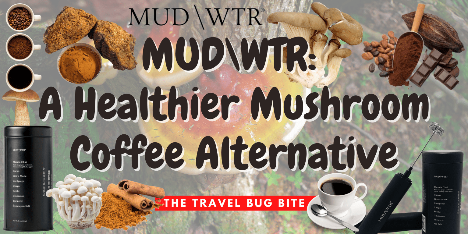 MUD\WTR, MUD\WTR: A Healthier Mushroom Coffee Alternative, Travel, Reviews, Bugs & More!