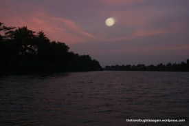 Beautiful Sunset witnessed from a Vallam, Alleypey