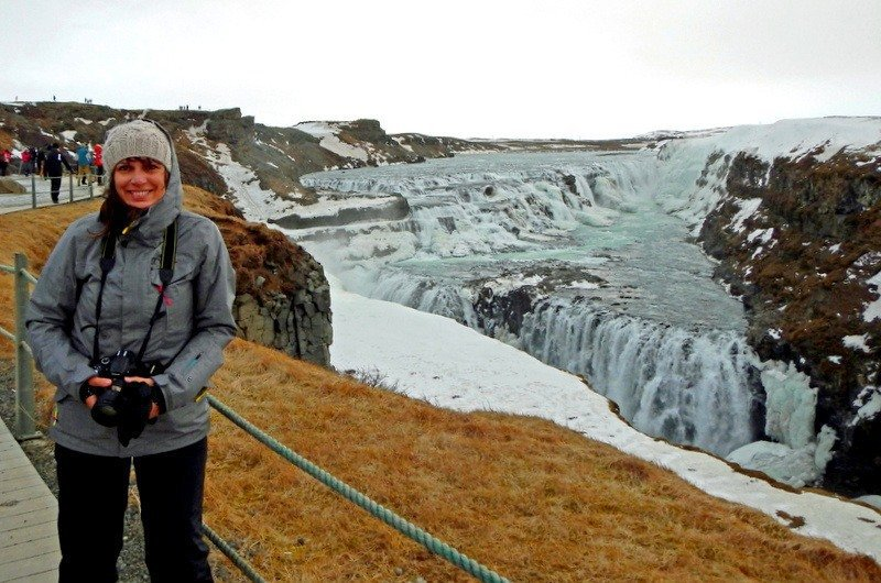 Travelbunny at Gullfoss Waterfall