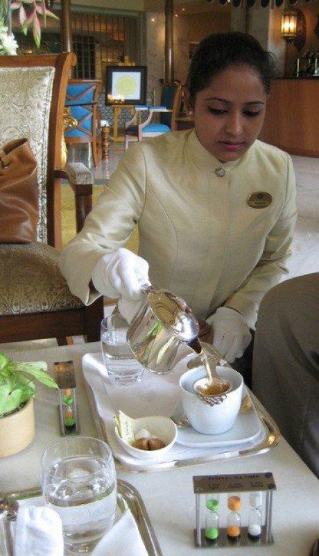 Tea served at the Taj Tea Lounge, Taj Palace, Delhi