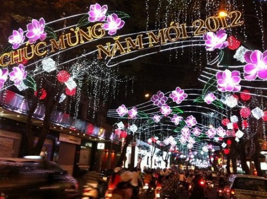 Saigon Street at New Year
