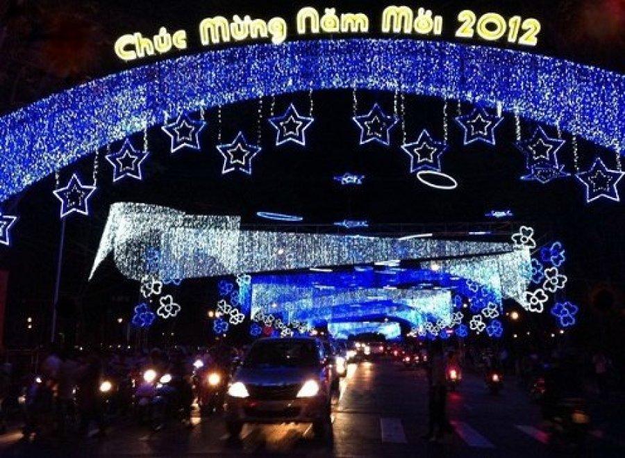 Saigon Street at New Year