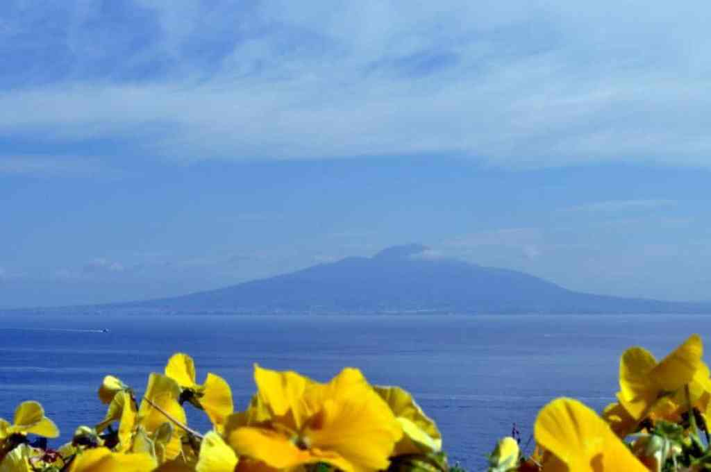 Mount Vesuvius over the Bay of Naples