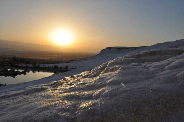 Sunset at Pamukkale