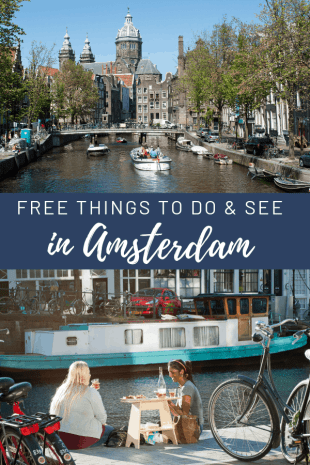 Amsterdam budget guide. Two girls having a canal side picnic