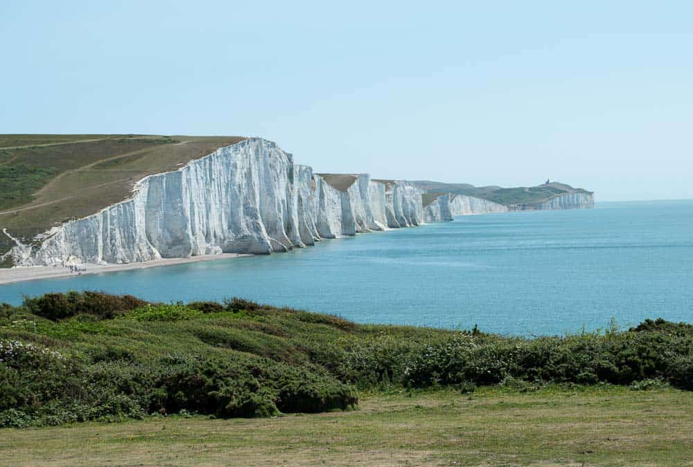 Seven Sisters Cliffs in East Sussex viewed from Seaford Head