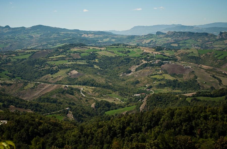 San Marina views across Emilia Romagna