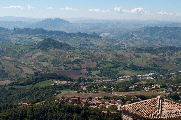 View from Guaita Tower, San Marino
