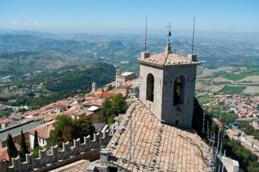 View from Guaita Tower, San Marino