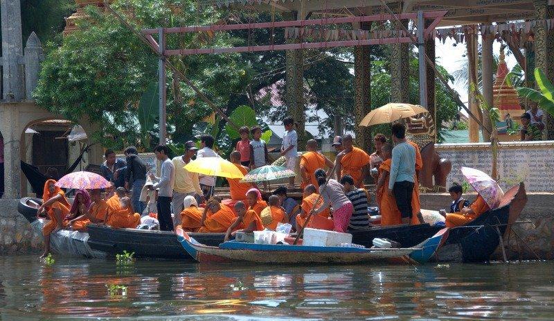 Monks at Tonle Sap Lake