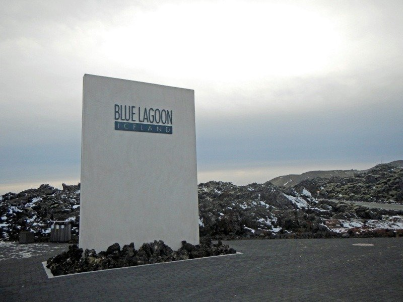 The entrace to The Blue Lagoon Iceland