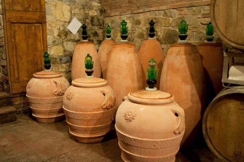 tta Fermentation casks at Fattoria di Montecchio
