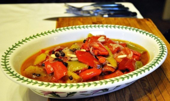 Sicilian Cuisine Peppers - Peperonata Agrodolce