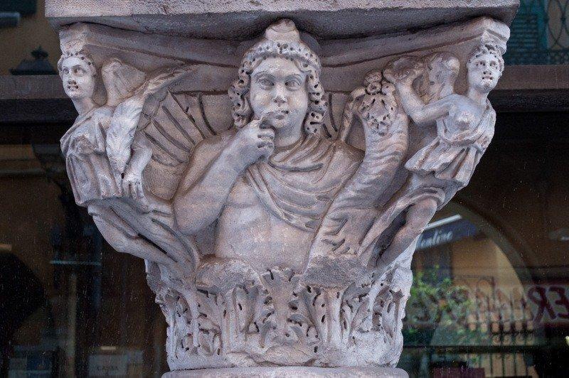 Medievel Columns in Via Ulisse Dini, Pisa