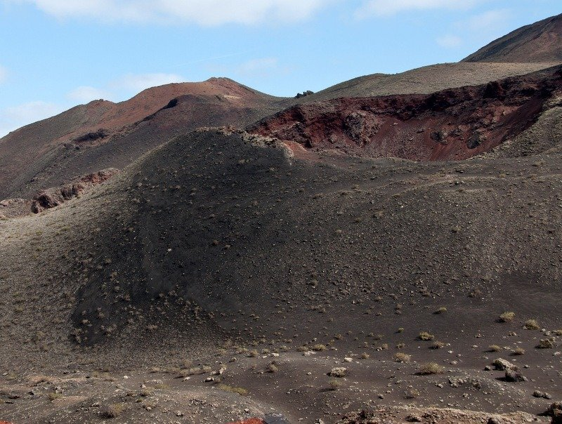 Open volcano crater at Timanfaya