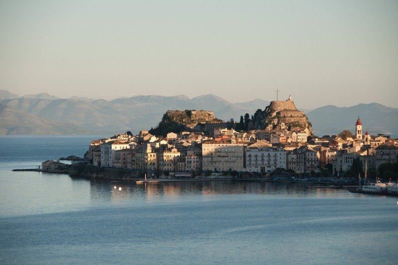 Corfu Old Town at Sunset