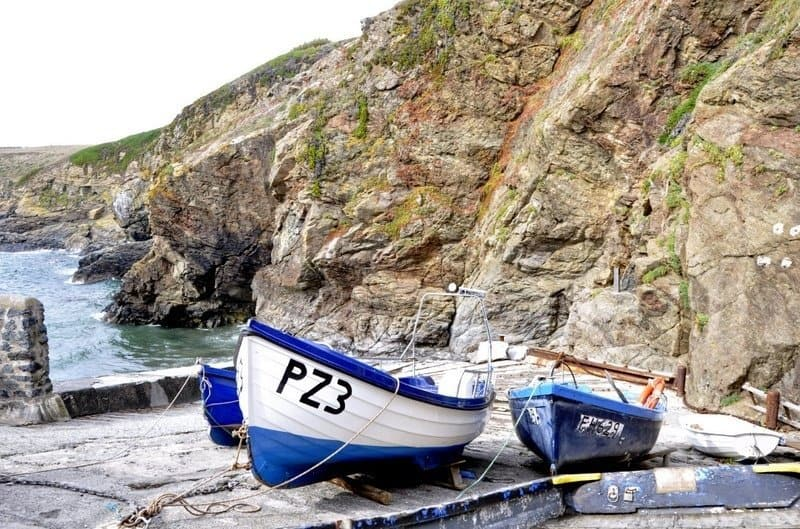 Boats by Polpeor Lifeboat Station