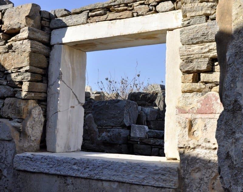 Window at the House of Triton, Delos