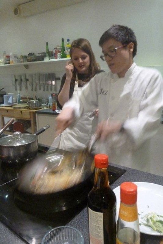 cooking with wok