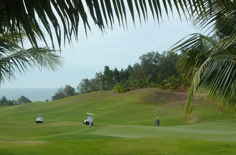 Golf at Sea Links Golf Club, Mui Ne, Vietnam
