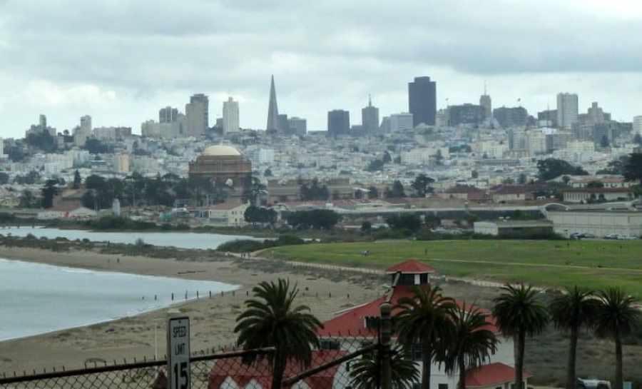 San Francisco View from Golden Gate Bridge