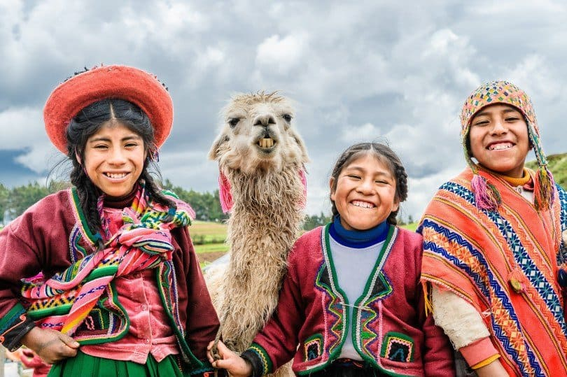Smiling People from peru