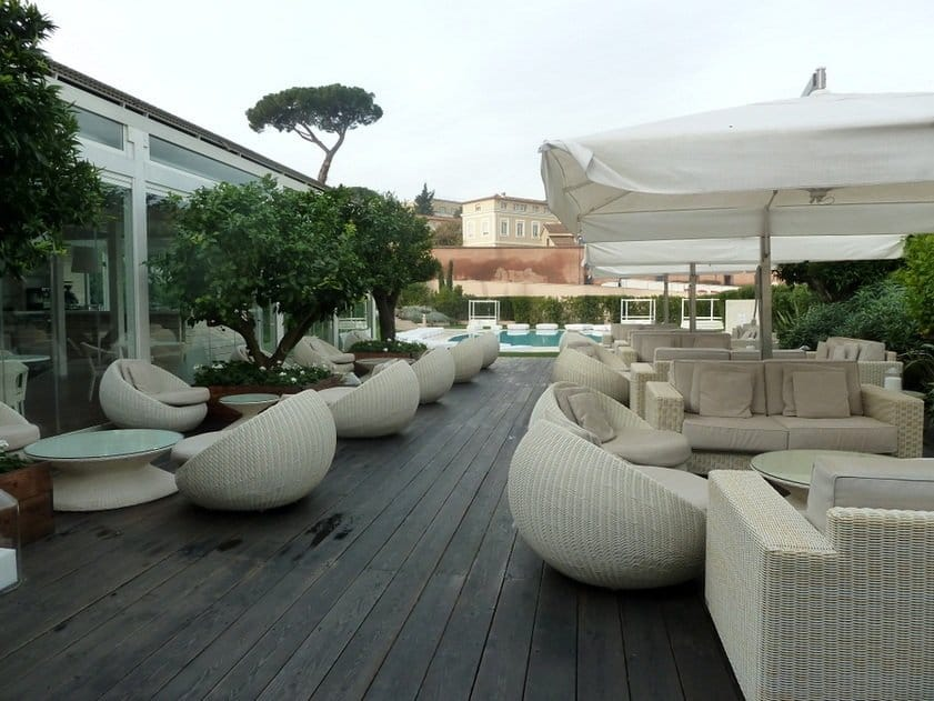 Gran Melia Villa Agrippina, Rome - the terrace