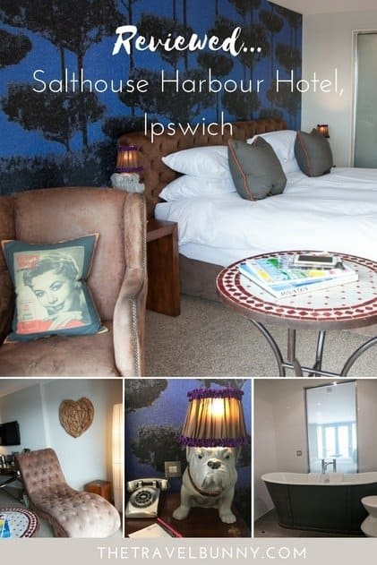 Hotel Review of boutique hotel Salthouse Harbour Hotel in Ipswich, Suffolk, UK