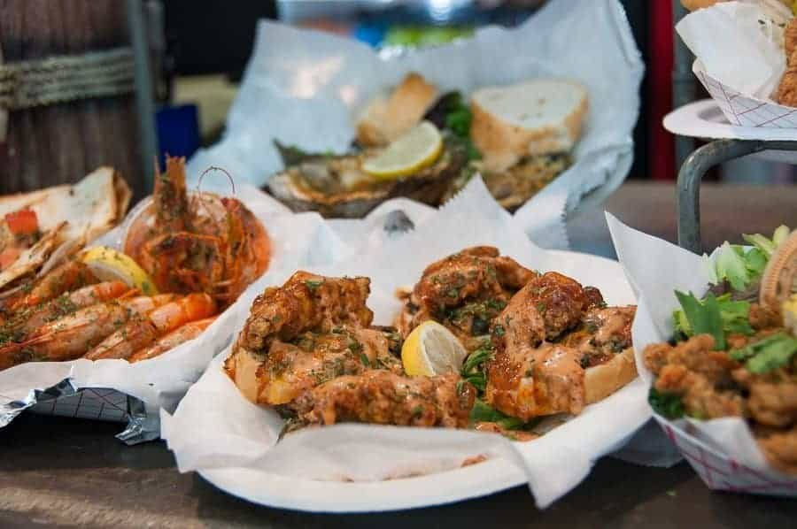 Seafood in New Orleans